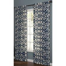 dining room curtain panels shop allen roth oberlin 84 in l geometric navy back tab window