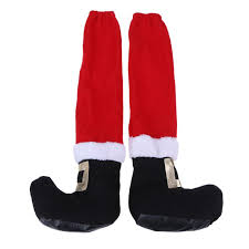 chair foot covers christmas chair leg table santa claus leg chair foot covers party