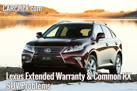 lexus rx 450h software update lexus extended warranty u0026 common rx suv problems