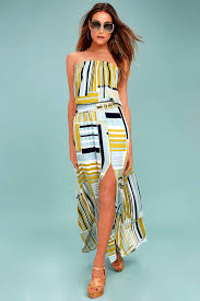 light blue and white striped maxi dress my sunrise chartreuse striped strapless maxi dress chartreuse
