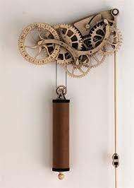 wooden kit abong handcrafted mechanical wooden pendulum clock kit