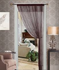 new brown string thread curtain panel fringe blind living room