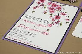 cherry blossom wedding invitations cherry blossom wedding invitation blossom accents