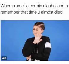 Memes Alcohol - smelling a certain alcohol meme