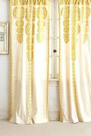 Patterned Blackout Curtains Yellow Patterned Kitchen Curtains Mustard Yellow Blackout Curtains