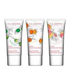 scented hand and nail treatment cream trio hand foot care clarins scented hand and nail treatment cream trio