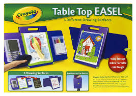 how to make a simple table top easel amazon com crayola tabletop portfolio style easel toys games