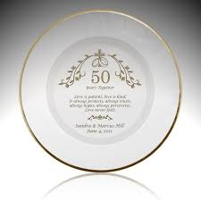 personalized anniversary plate union personalized 50th anniversary plate with gold