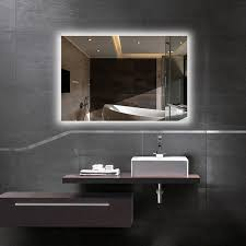 hans u0026alice 32 u201d x 24 u201d led lighted vanity bathroom mirror with touch