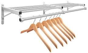 mounted coat rack with shelf in stock uline