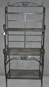 Mini Bakers Rack Black Wrought Iron Bakers Rack Foter
