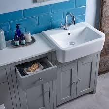 Free Standing Vanity Tavistock Lansdown Linen White Freestanding Vanity Unit 700mm