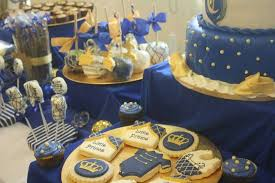 prince themed baby shower ideas captivating looked in blue navy theme with additional cake