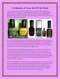 a celebration of colors with opi nail polish