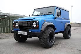 land rover series 3 custom landrover defender full wrap in arlon blue aluminium 2k customs