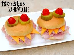 monster sandwiches and fun halloween dinner ideas