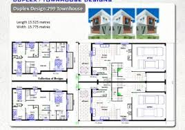 Duplex House Plans For Narrow Lots Duplex U0026 Townhouse Designs Duplex American Duplex Plans