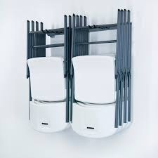 Folding Table On Wall Hanger Wall Mounted Folding Chair Storage With Hooks To Saving