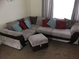 Dfs Large Corner Sofa Storage Footstool In Pontypool Torfaen - Sofa and footstool
