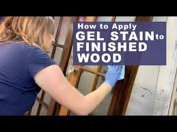 how to use gel stain on cabinets how to apply gel stain to finished wood salvaged inspirations