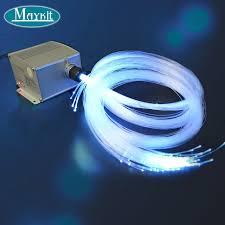 fiber optic light strands maykit 300 strand 10m fiber optic cable 5w led optical light