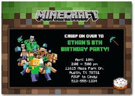 minecraft birthday invitations minecraft birthday invitation cards silverstores info