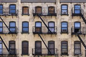 Double Rideaux New York by Apartment Facade Ideas Unbalanced Apartment Building Provide