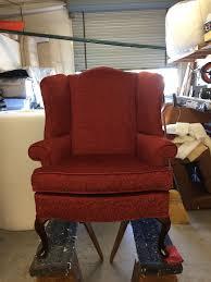 Velvet Wingback Chair Rudy U0027s Custom Upholstery