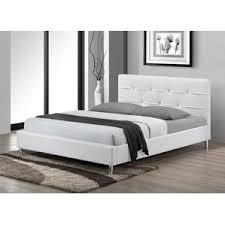 modern u0026 contemporary white leather bed allmodern