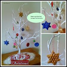 how to make bubblewrap salt dough christmas tree decorations with
