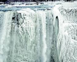 polar vortex turns niagara falls frozen wonderland