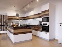 cuisine blanc et bois design interieur modele cuisine contemporaine blanche bois