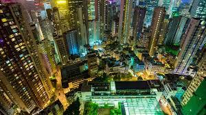 hong kong city nights hd wallpapers hong kong city night illumination rooftop down view panorama 4k