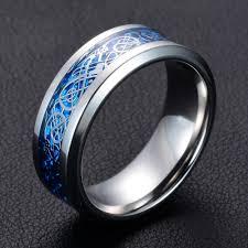 dragon engagement rings images Buy stainless steel men rings carbon fiber dragon jpg