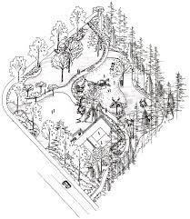 city park axonometric drawing drawing by elizabeth thorstenson