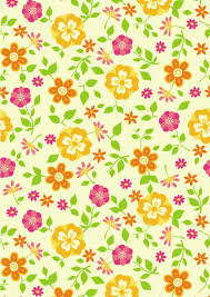 pink and orange flowers scrapbook paper