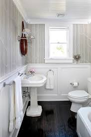 White Beadboard Ceiling by Powder Room Beadboard Ceiling Design Ideas