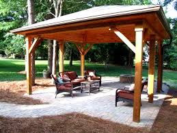 Outdoor Ideas For Backyard Backyard Pavilion Designs Jeromecrousseau Us