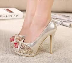 Comfortable High Heels Comfortable Gold Heels Qu Heel
