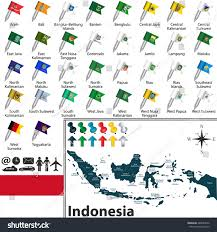 World Map Regions by Vector Map Indonesia Regions Flags Location Stock Vector 286084226