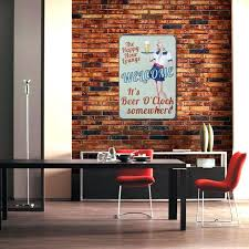 Beer Home Decor Wall Ideas Michigan State Vintage Flag Canvas Print With Brown