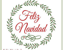feliz navidad christmas card feliz navidad svg etsy