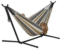 Portable Hammocks Vivere U0027s Combo Double Hammock With Stand 8ft Walmart Canada