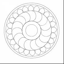 stunning simple mandala coloring pages with easy mandala coloring