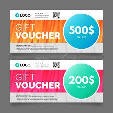 gift voucher template vector graphic design stock vector image