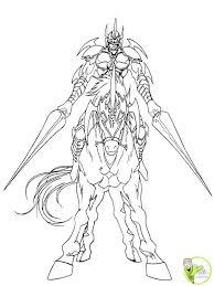 coloriage le chevalier sur sa monture dans la catégorie yu gi