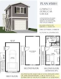 2 story garage plans with apartments 1 car 2 story garage apartment plan 588 1 12 3 x 24 stairbehm