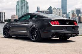 Black Mustang Black Rims Black Rims For Ford Mustang Car Autos Gallery