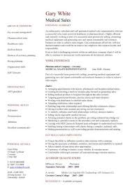 Sales Resume Example by Medical Sales Cv Sample Marketing Resume How To Write A Cv Example