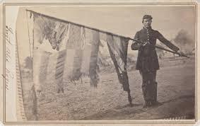 American Battle Flag Sergeant Alex Rogers With Battle Flag American Civil War Forums